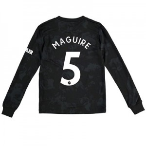 Manchester United Third Shirt 2019 - 20 - Kids - Long Sleeve with Maguire 5 printing