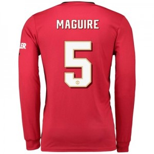 Manchester United Cup Home Shirt 2019 - 20 - Long Sleeve with Maguire 5 printing