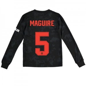 Manchester United Cup Third Shirt 2019 - 20 - Kids - Long Sleeve with Maguire 5 printing