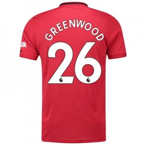 Manchester United Home Shirt 2019 - 20 with Greenwood 26 printing