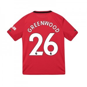 Manchester United Home Shirt 2019 - 20 - Kids with Greenwood 26 printing