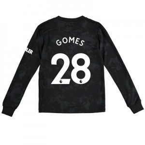 Manchester United Third Shirt 2019 - 20 - Kids - Long Sleeve with Gomes 28 printing