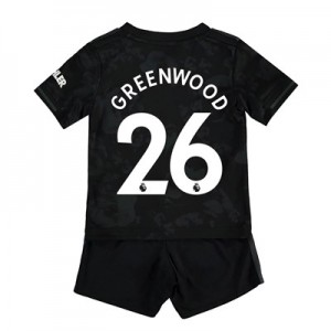 Manchester United Third Baby Kit 2019 - 20 with Greenwood 26 printing