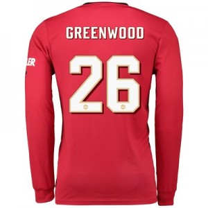 Manchester United Cup Home Shirt 2019 - 20 - Long Sleeve with Greenwood 26 printing