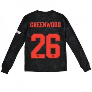 Manchester United Cup Third Shirt 2019 - 20 - Kids - Long Sleeve with Greenwood 26 printing