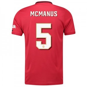 Manchester United Cup Home Shirt 2019 - 20 with McManus 5 printing