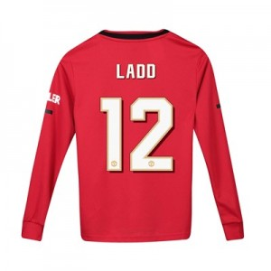 Manchester United Cup Home Shirt 2019 - 20 - Kids - Long Sleeve with Ladd 12 printing