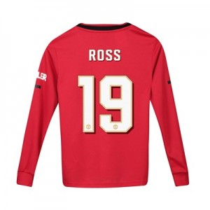 Manchester United Cup Home Shirt 2019 - 20 - Kids - Long Sleeve with Ross 19 printing