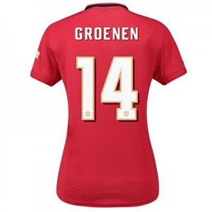 Manchester United Cup Home Shirt 2019 - 20 - Womens with Groenen 14 printing