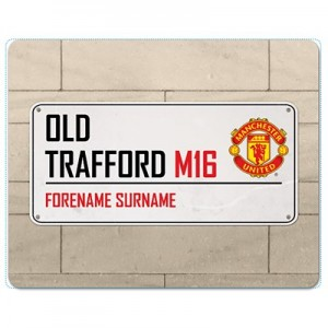 Manchester United Personalised Street Sign Mouse Mat