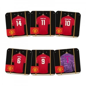 Manchester United Personalised Goalkeeper Dressing Room Coasters 6 Pack