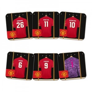 Manchester United Personalised Dressing Room Coasters 6 Pack