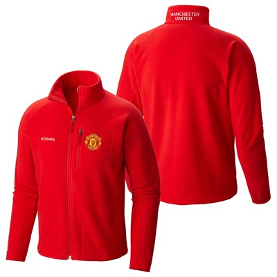 Manchester United Columbia Fast Trek II Full Zip Fleece Jacket - Red - Mens
