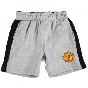 Manchester United Core Fleece Shorts - Grey Marl - Kids