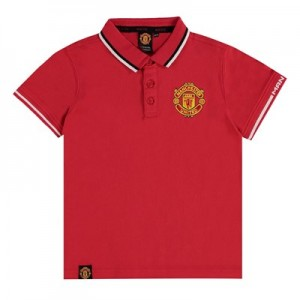 Manchester United Core Polo Shirt - Red - Kids