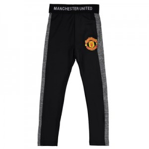 Manchester United Core Poly Leggings - Black - Kids