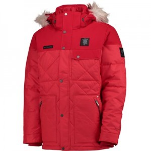 Manchester United Columbia Barlow Pass 550 TurboDown Quilted Jacket - Cherrybomb - Mens