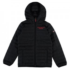 Manchester United Columbia Flash Forward Hooded Down Jacket - Black - Kids