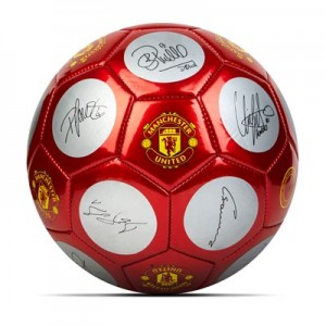 Manchester United Signature Football - Red-White - Size 5