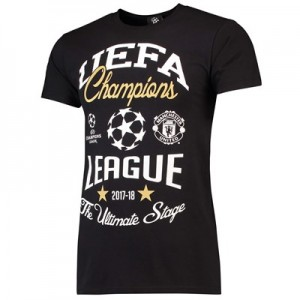 Manchester United UEFA Champions League Ultimate Stage T-Shirt- Black - Mens