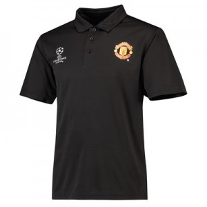 Manchester United UEFA Champions League  Polo Shirt- Black - Mens