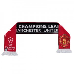 Manchester United UEFA Champions League Jacquard  Scarf - Red - Adult