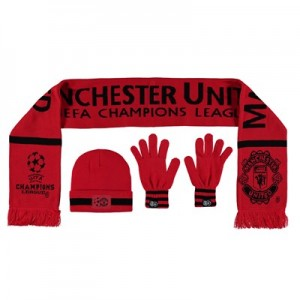 Manchester United UEFA Champions League Winter Set - Red - Adult