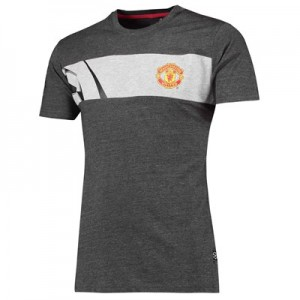 Manchester United UEFA Champions League Silverwear T-Shirt - Grey Marl - Mens