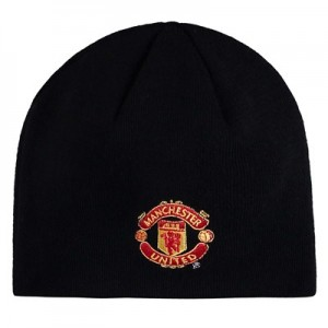 Manchester United UEFA Champions League Beanie - Black - Adult