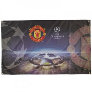 Manchester United UEFA Champions League Flag