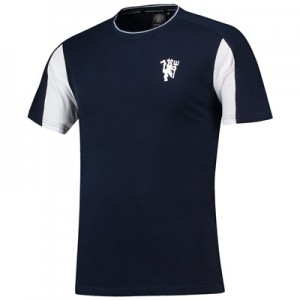 Manchester United Vintage Panel T-shirt - Navy - Mens