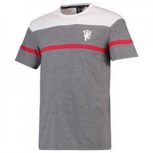 Manchester United Vintage Yarn Dyed T-Shirt - Grey - Mens