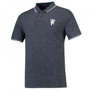 Manchester United Vintage Grindle Polo Shirt - Navy - Mens