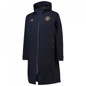 Manchester United UCL Training Padded Coat - Navy