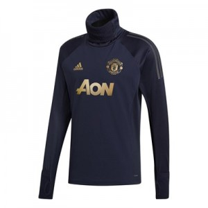 Manchester United UCL Training Warm Top - Navy