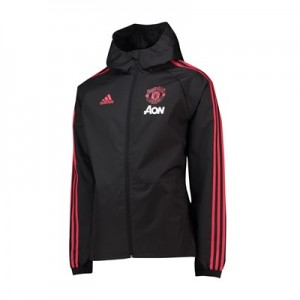 Manchester United Training Rain Jacket - Black