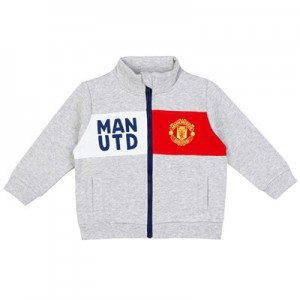 Manchester United Zip Up Track Top - Grey - Baby