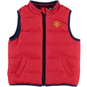 Manchester United Zip Through Padded Gilet - Red - Infant