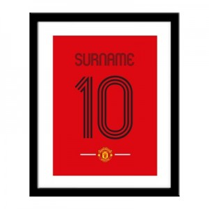 Manchester United Personalised Retro Shirt Print