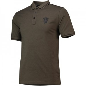 Manchester United Jacquard Polo Shirt - Khaki - Mens