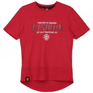 Manchester United Core Raised Rubber Print T-Shirt - Red - Junior