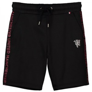 Manchester United Embroidered Devil Shorts - Black - Boys