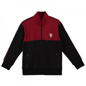 Manchester United Full Zip Track Top - Black/Red - Boys