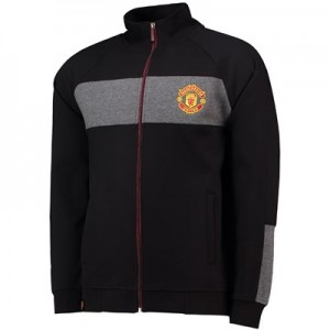 Manchester United Core Contrast Panel Track Top - Black - Mens