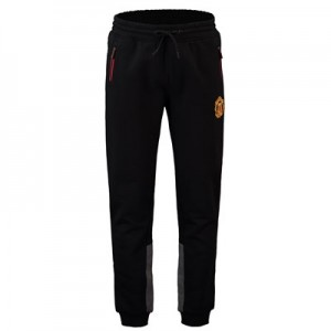 Manchester United Core Relaxed Fit Crest Joggers - Black - Mens