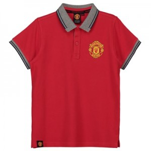 Manchester United Core Contrast Rib Polo Shirt - Red - Junior