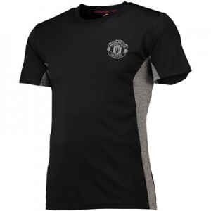Manchester United Core Poly T-Shirt - Black/Grey - Mens