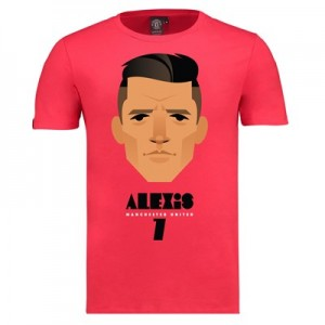 Manchester United Sanchez T-Shirt by Stanley Chow - Red - Mens