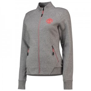 Manchester United High Neck Track Top - Grey Grindle - Womens