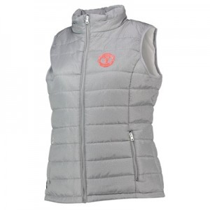 Manchester United Quilted Gilet With Fold Away Hood - Grey - Womens
